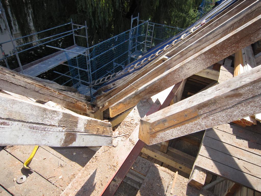 Das Dach ist wieder zu : Haydn-Villa