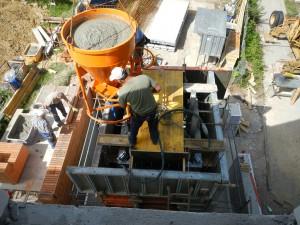 Schacht betonieren