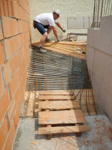 Schalung für gewendelten Treppenlauf